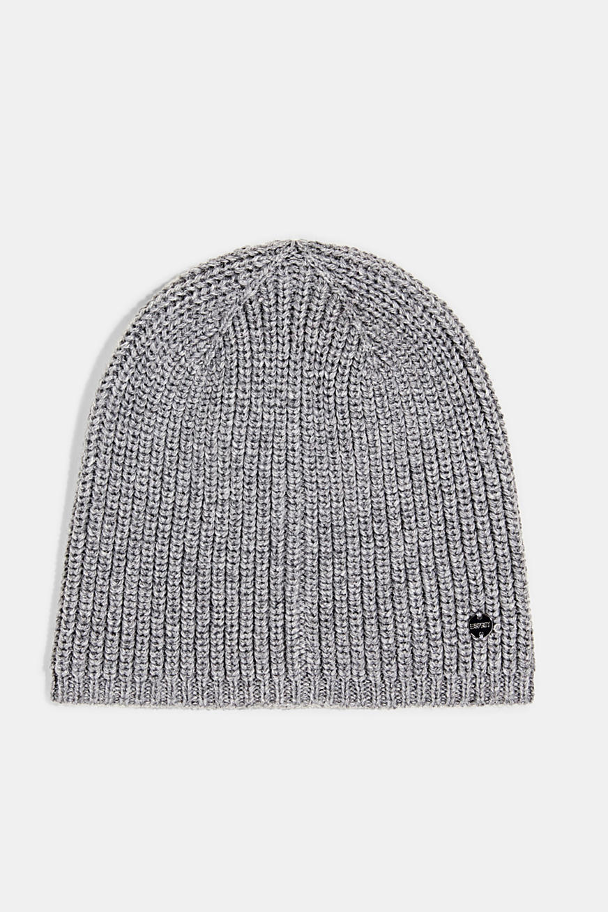 Recycled: ribbed blended wool beanie