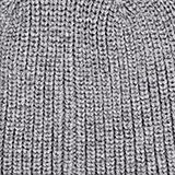 Recycled: ribbed blended wool beanie, GUNMETAL, swatch