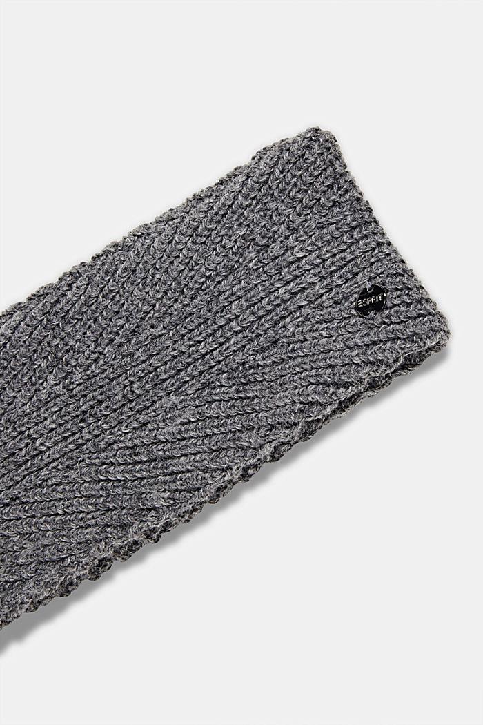 Recycled: wool/alpaca blend headband, GUNMETAL, detail image number 1