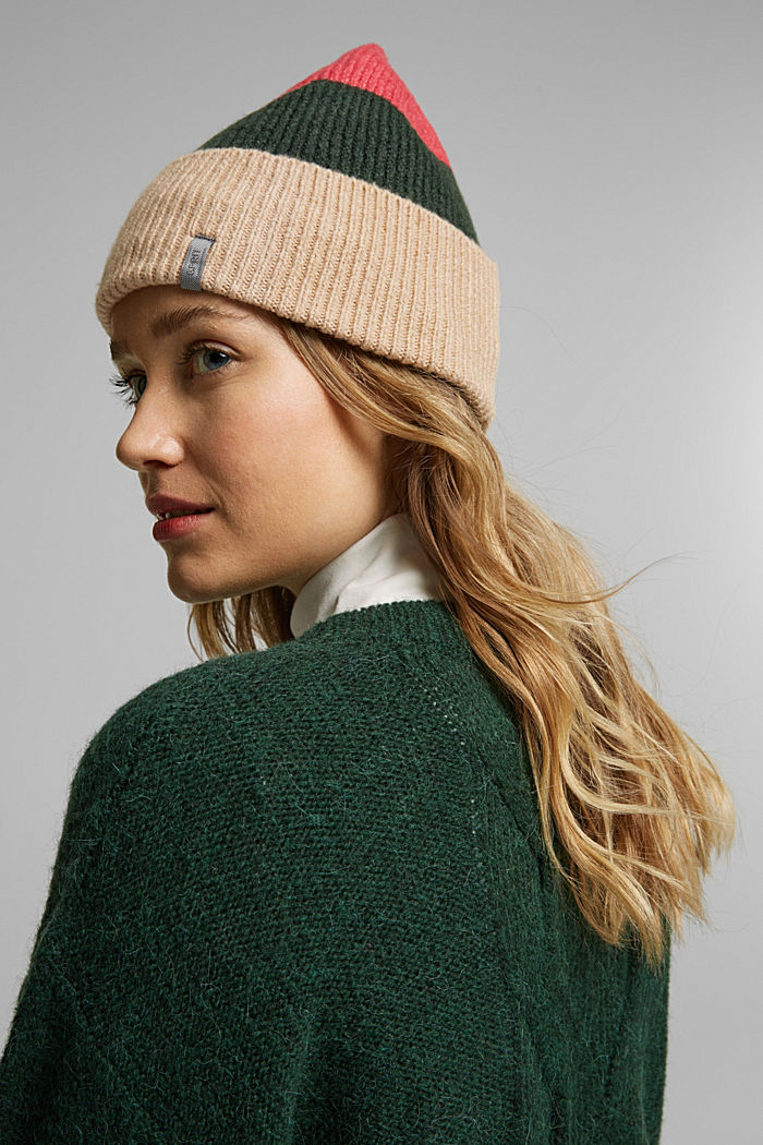Recycled: blended wool beanie