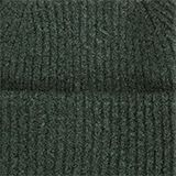 Recycled: blended wool beanie, DARK GREEN, swatch