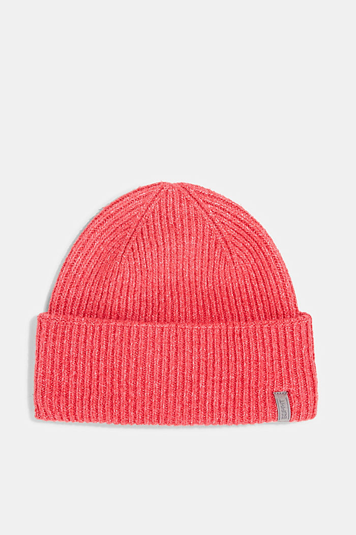 Recycled: blended wool beanie, PINK FUCHSIA, detail image number 0