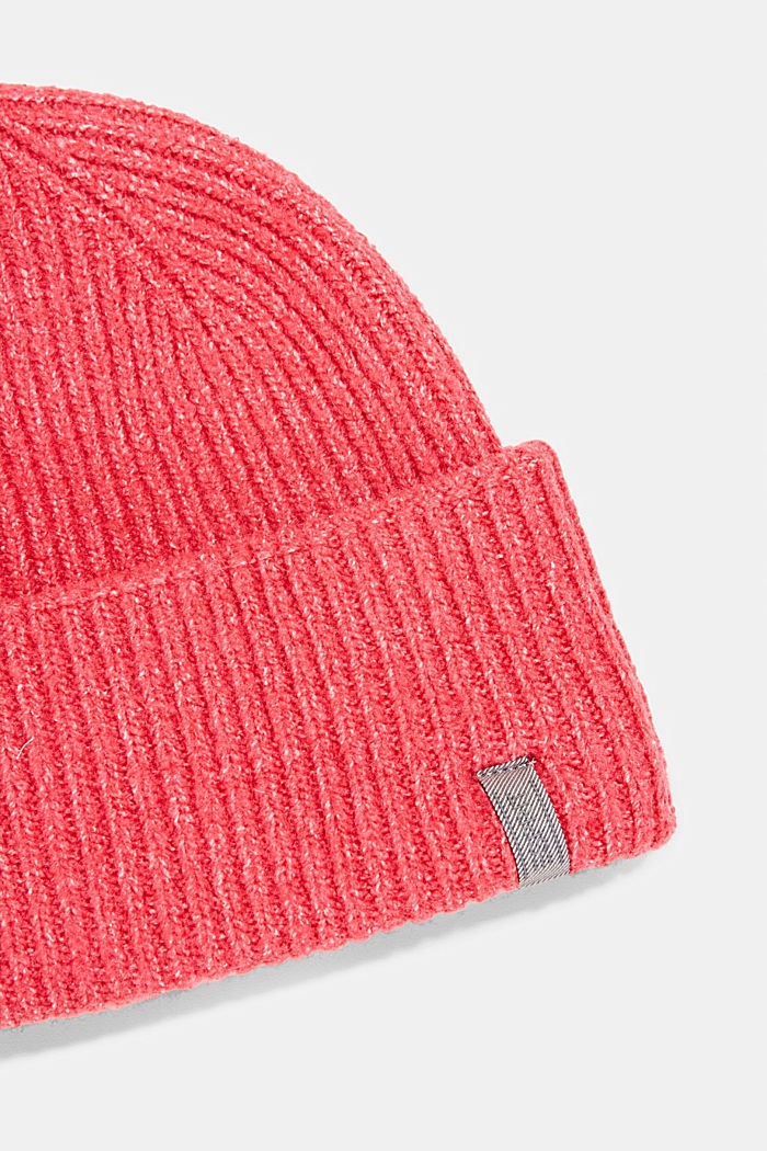 Recycled: blended wool beanie, PINK FUCHSIA, detail image number 1