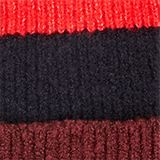 Beanie with block stripes, BORDEAUX RED, swatch