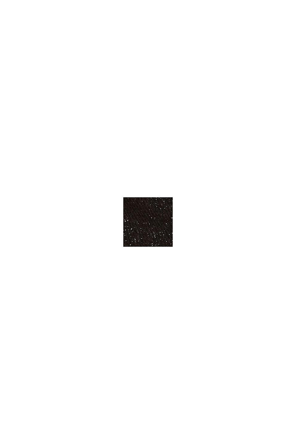 Recycelt: Schal mit Glitzergarn, BLACK, swatch