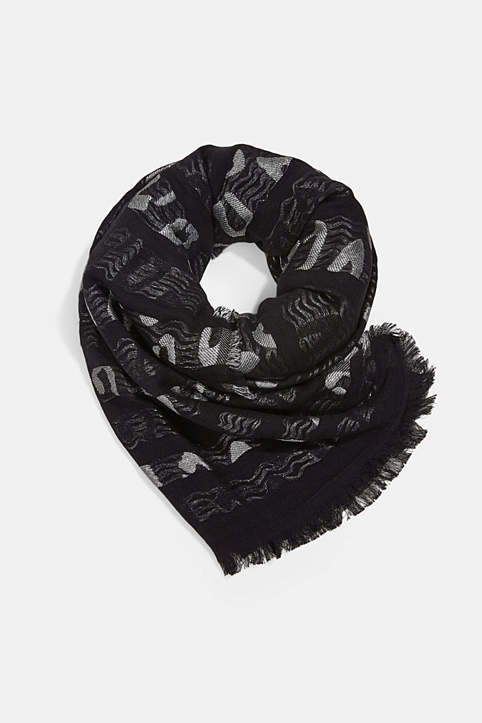 Woven scarf in blended cotton