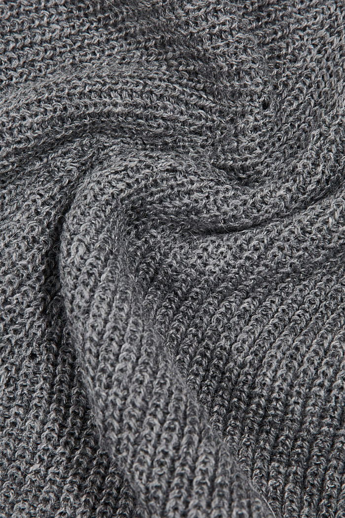 Containing wool and alpaca: Snood, GUNMETAL, detail image number 2