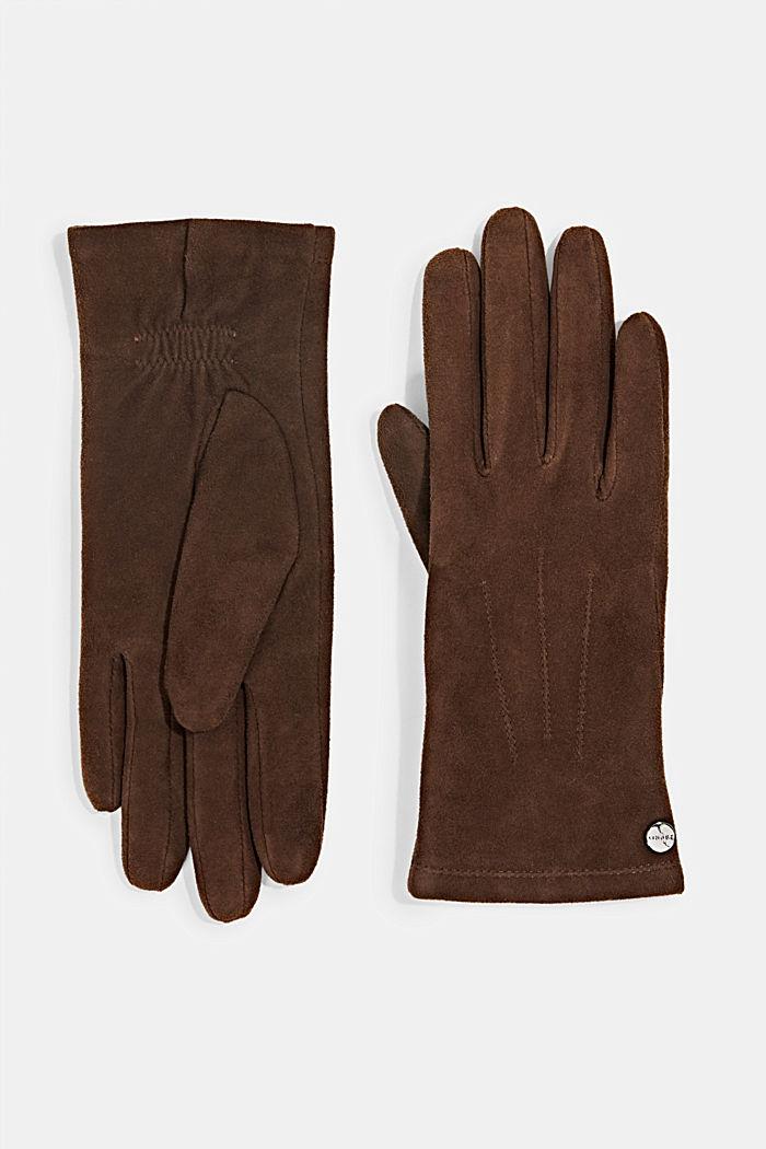 Gevoerde handschoenen van geitensuède