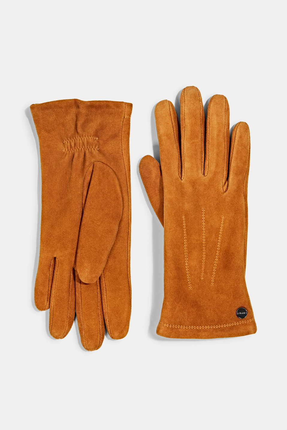 Esprit - Lined goat suede gloves