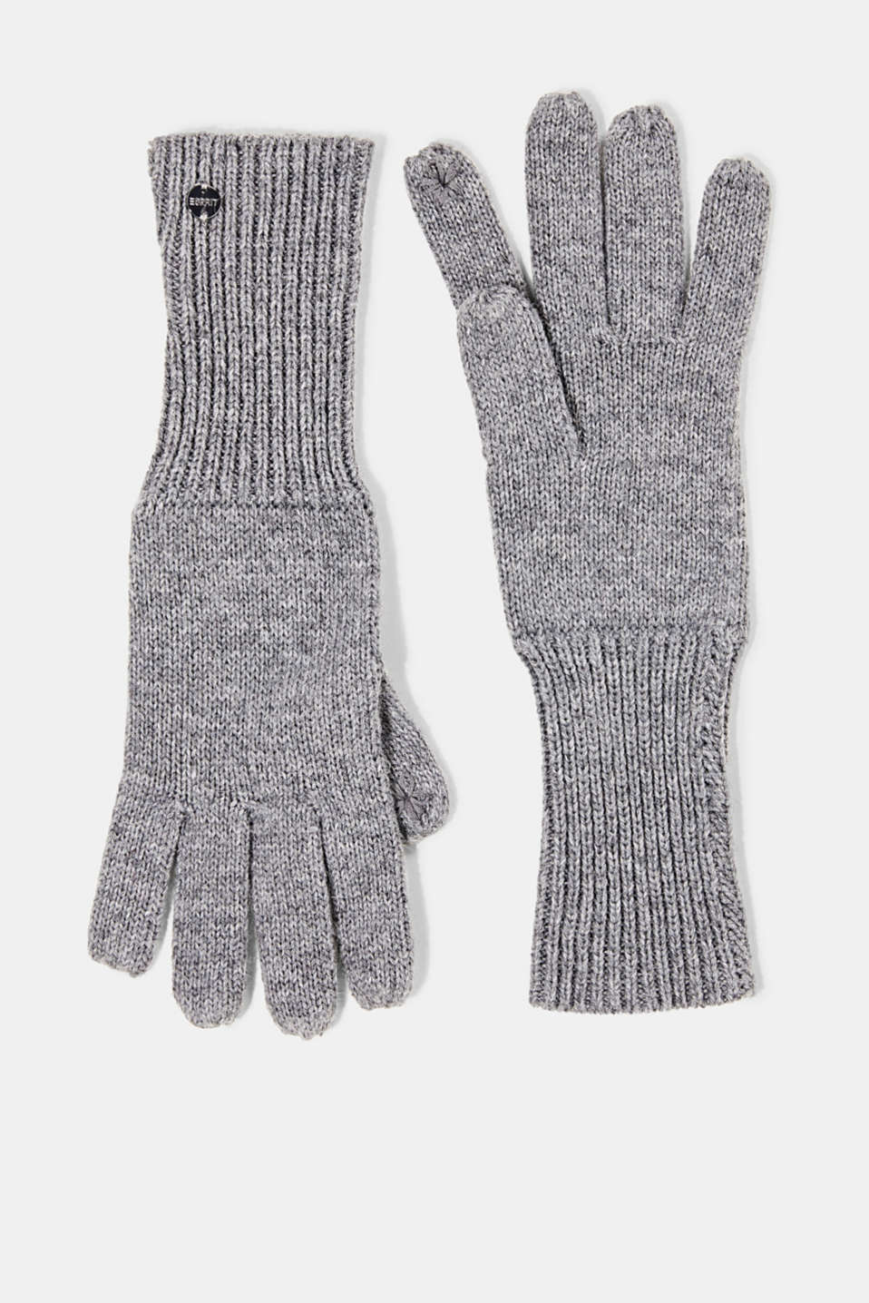 Esprit - Recycled: knit touchscreen gloves