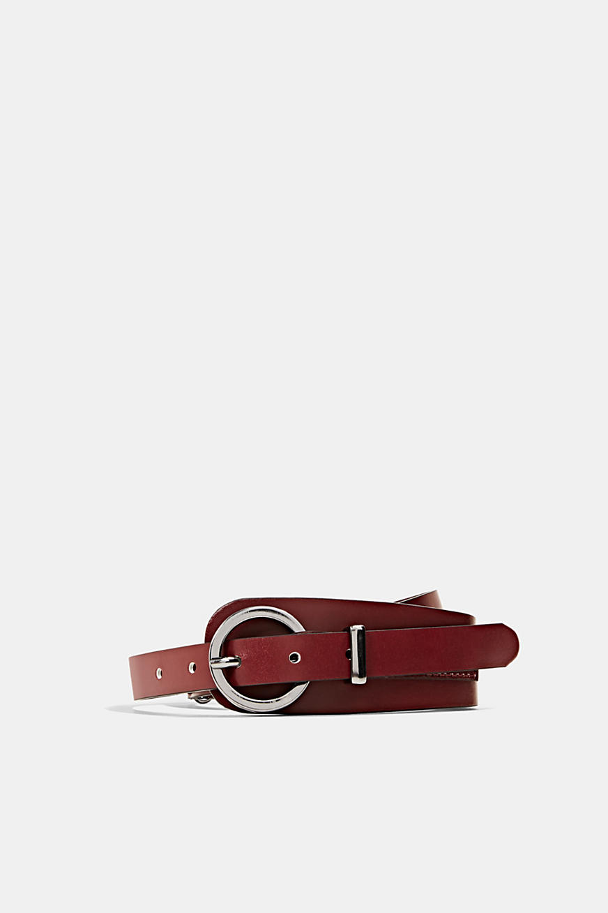 Leather waist belt