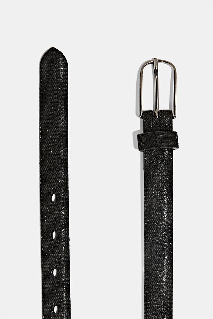 Gürtel mit Glitzer-Effekt, BLACK, detail image number 1