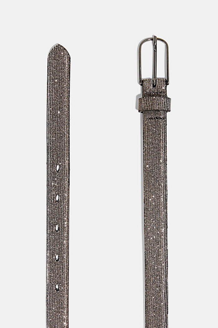 Belt with glitter effect, SILVER, detail image number 1