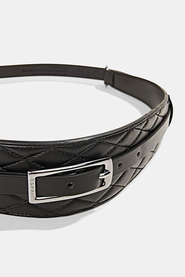 Taillengürtel mit Stepp-Details, BLACK, detail image number 1