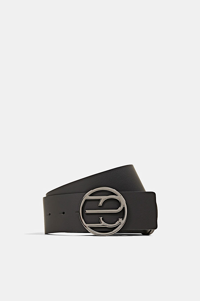 Waist belt with Monogram buckle, BLACK, detail image number 0