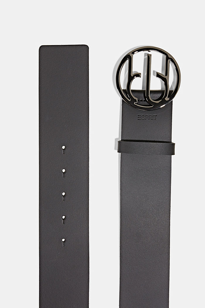 Waist belt with Monogram buckle, BLACK, detail image number 1