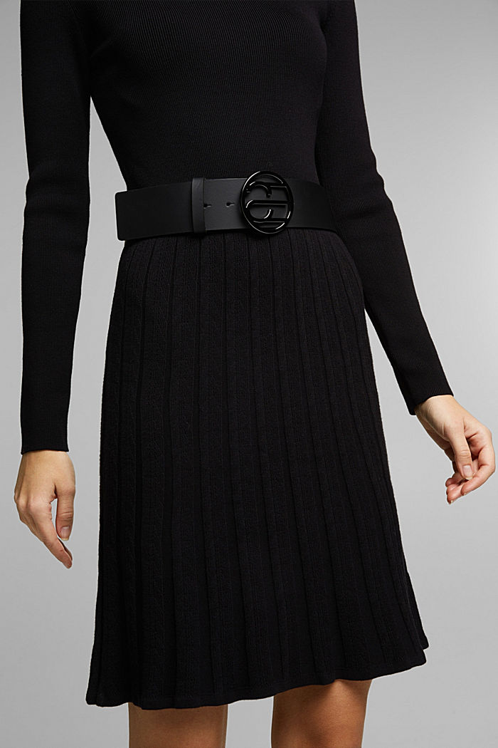 Waist belt with Monogram buckle, BLACK, detail image number 2