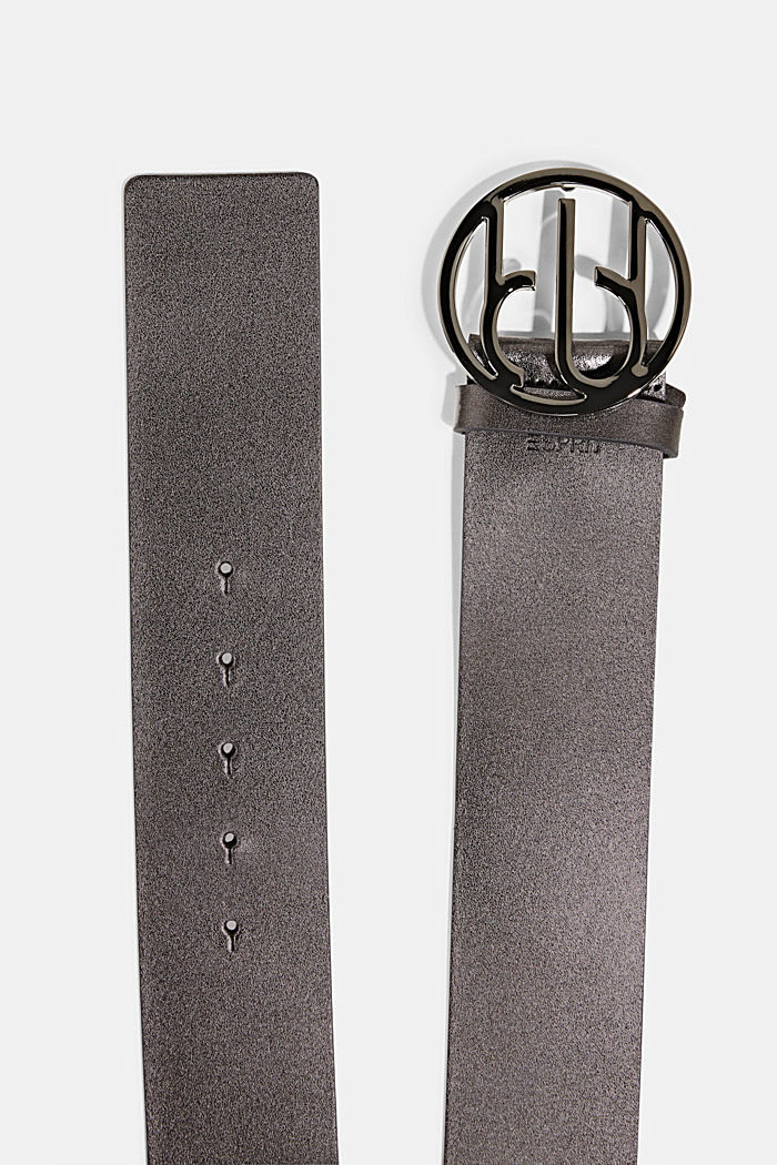 Waist belt with Monogram buckle, GUNMETAL, detail image number 1