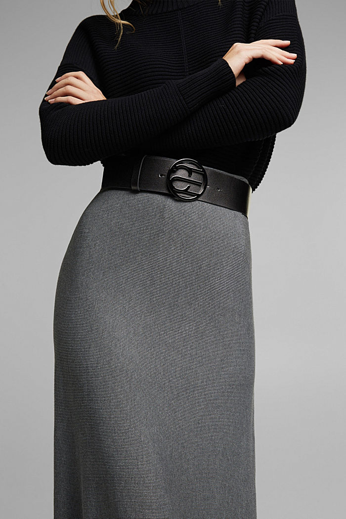 Waist belt with Monogram buckle, GUNMETAL, detail image number 2