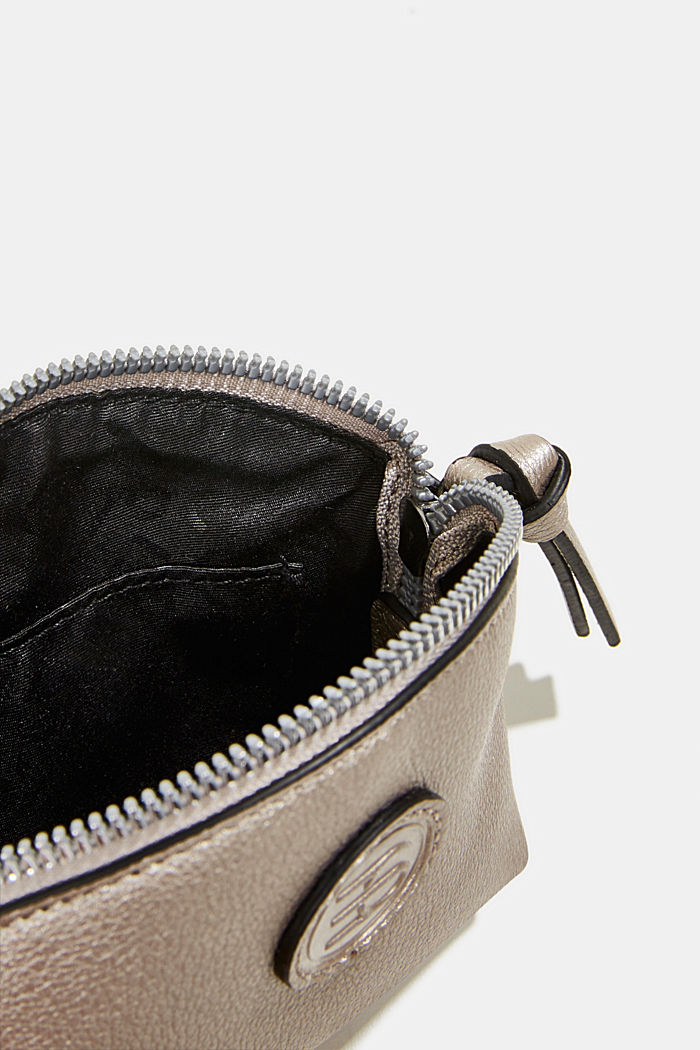 Estuche cosmético de polipiel, GUNMETAL, detail image number 3