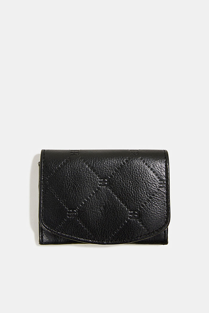 Monogram leather purse, BLACK, detail image number 0
