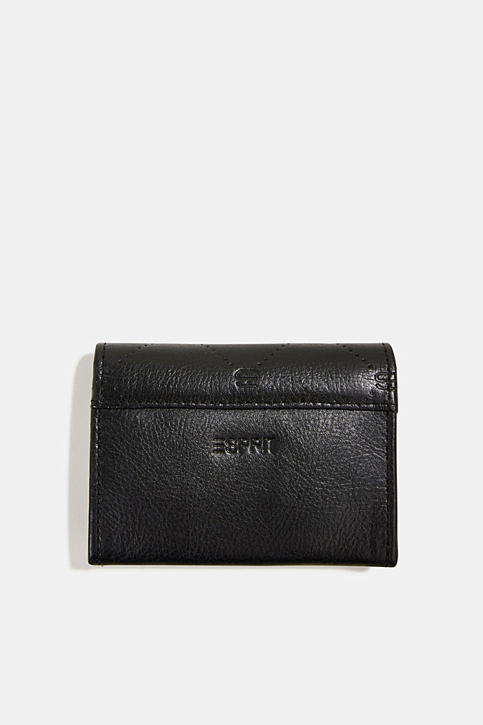 Monogram leather purse, BLACK, detail image number 1