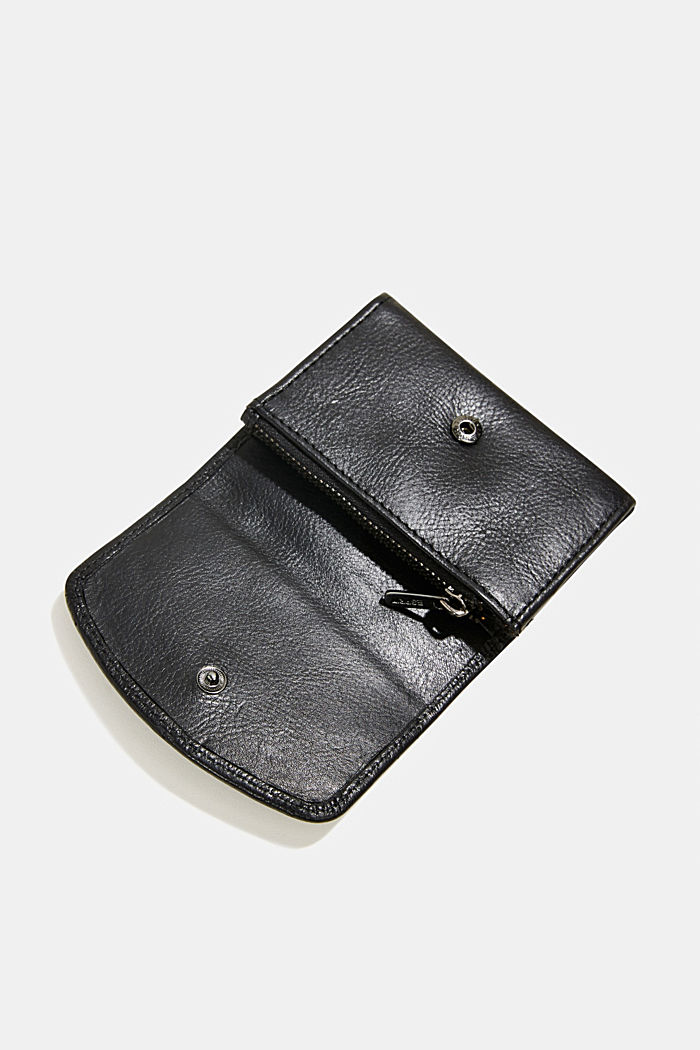 Monogram leather purse, BLACK, detail image number 2