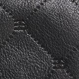 Monogram leather purse, BLACK, swatch