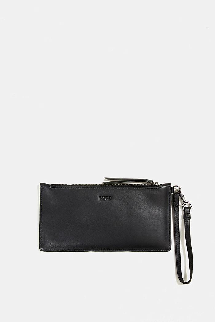 Thin monogram leather purse, BLACK, detail image number 2