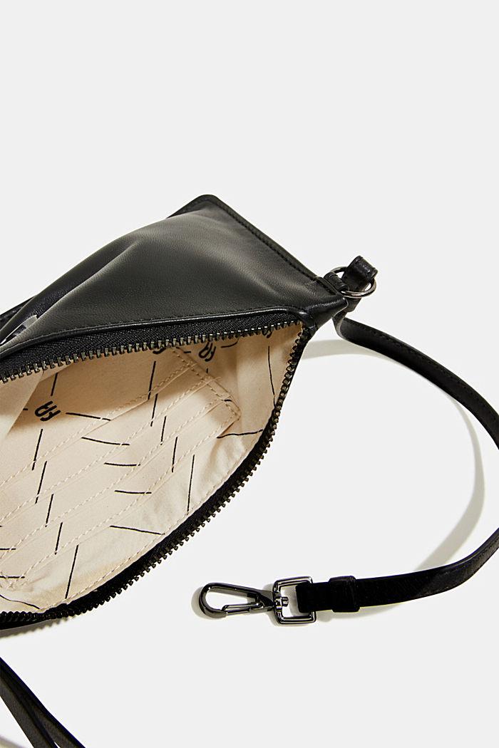 Thin monogram leather purse, BLACK, detail image number 1