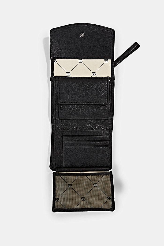 Monogram leather wallet, BLACK, detail image number 3