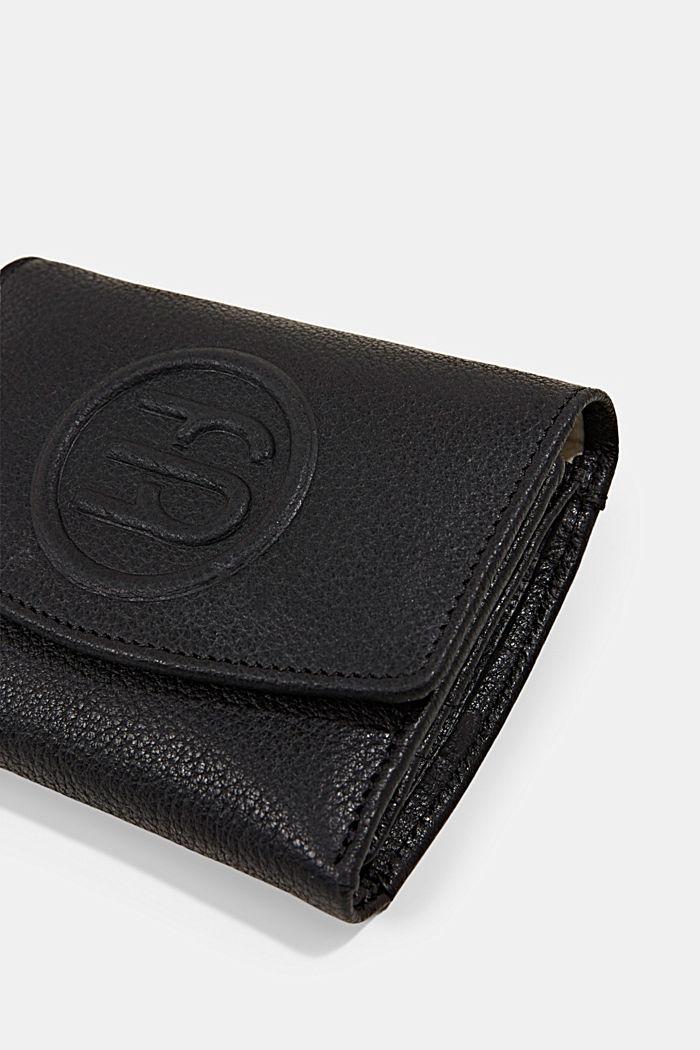 Monogramm-Geldbörse aus Leder