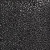 Monogramm Geldbörse aus Leder, BLACK, swatch