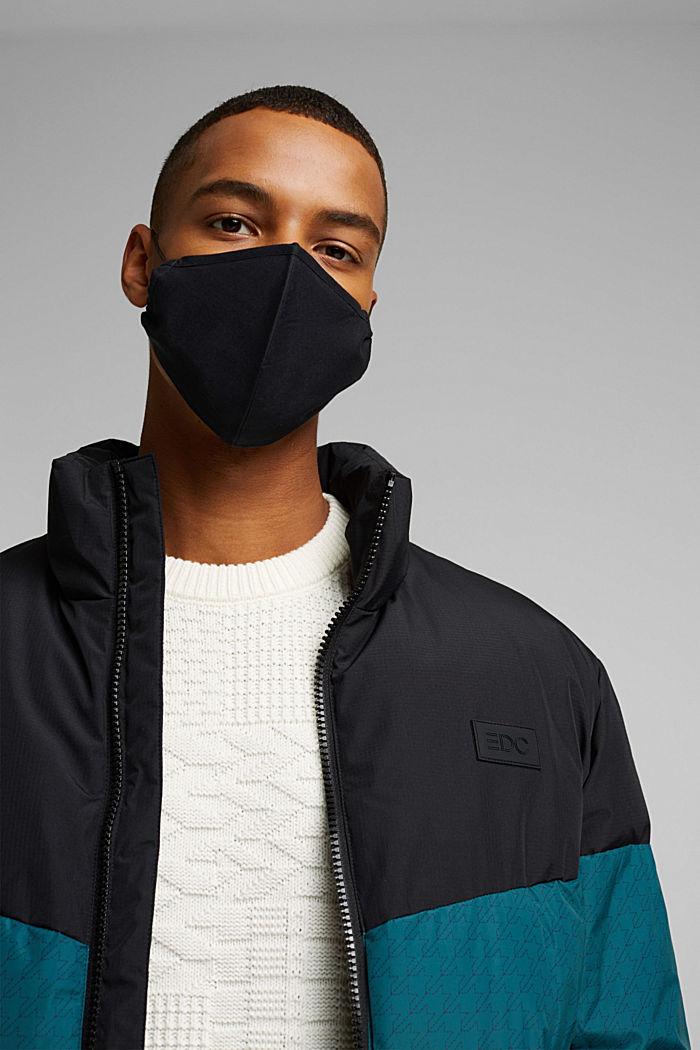 Unisex mask made of 100% organic cotton, BLACK, detail image number 3