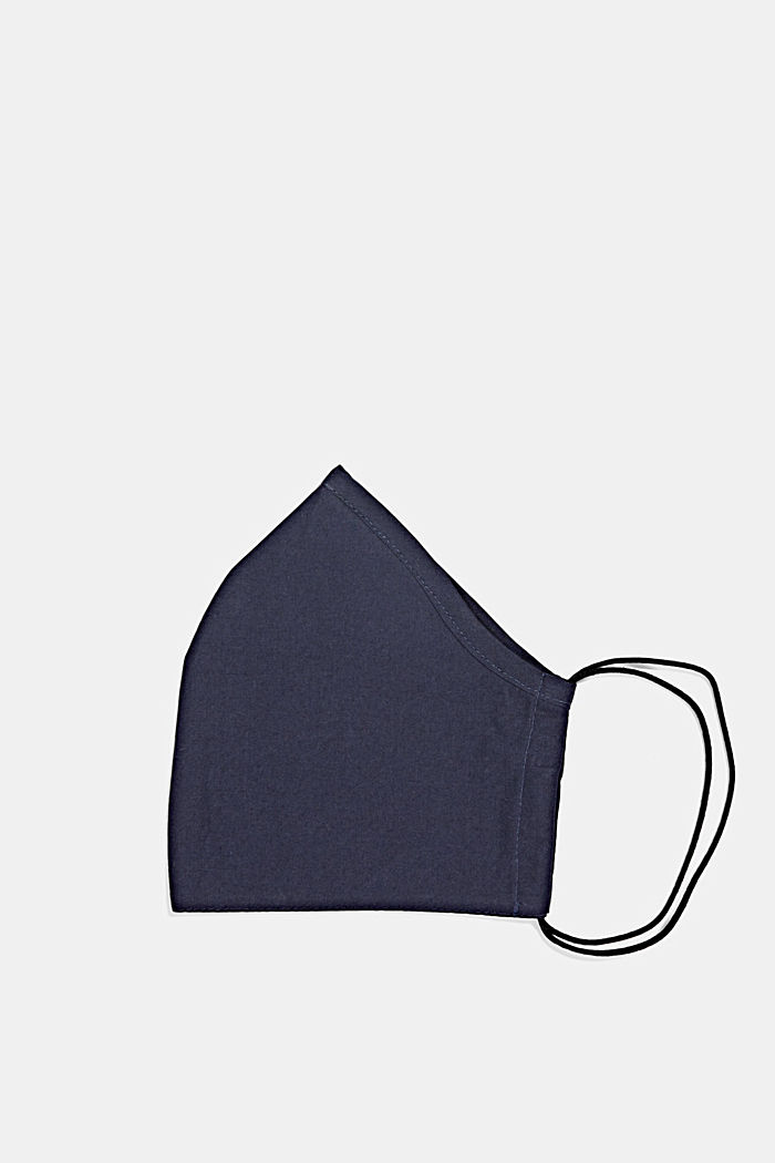 Unisex mask made of 100% organic cotton, NAVY, detail image number 0
