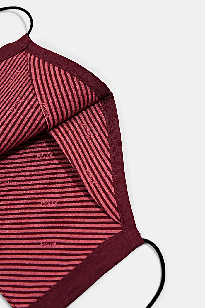 Unisex mask made of 100% organic cotton, BORDEAUX RED, detail image number 1