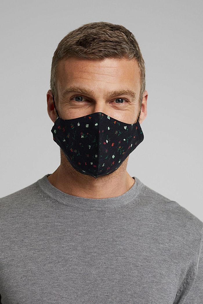Maseczka na twarz, 100% bawełny organicznej, BLACK, detail image number 3