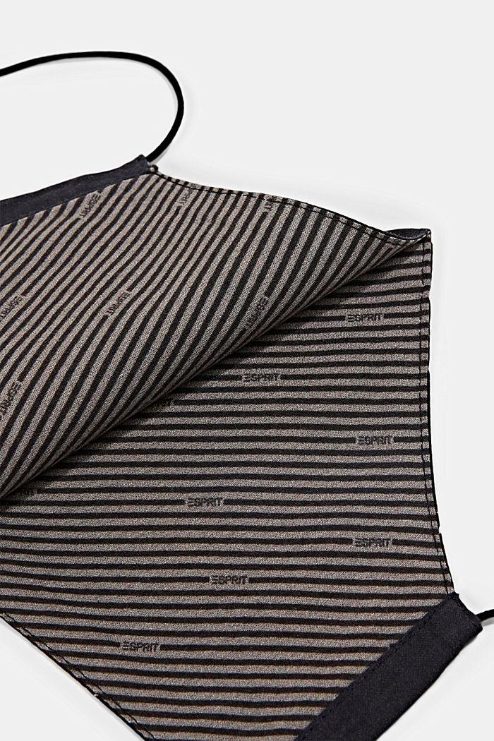 Mondkapje/mondmasker van 100% organic cotton, NEW BLACK, detail image number 1