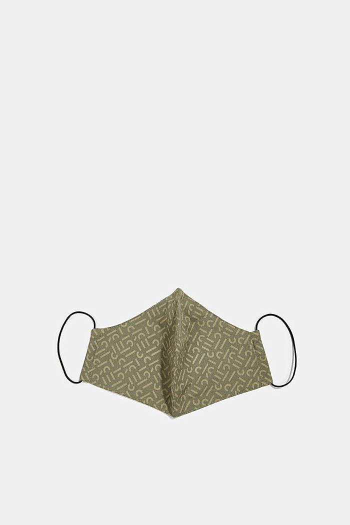 Face mask made of 100% organic cotton, KHAKI GREEN, detail image number 3