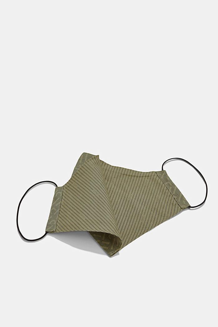 Face mask made of 100% organic cotton, KHAKI GREEN, detail image number 1