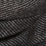 Recycled woven scarf with a houndstooth pattern, DARK GREY, swatch