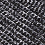 Recycled woven scarf with a houndstooth pattern, BLACK, swatch