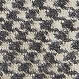 Recycled woven scarf with a houndstooth pattern, GREY, swatch