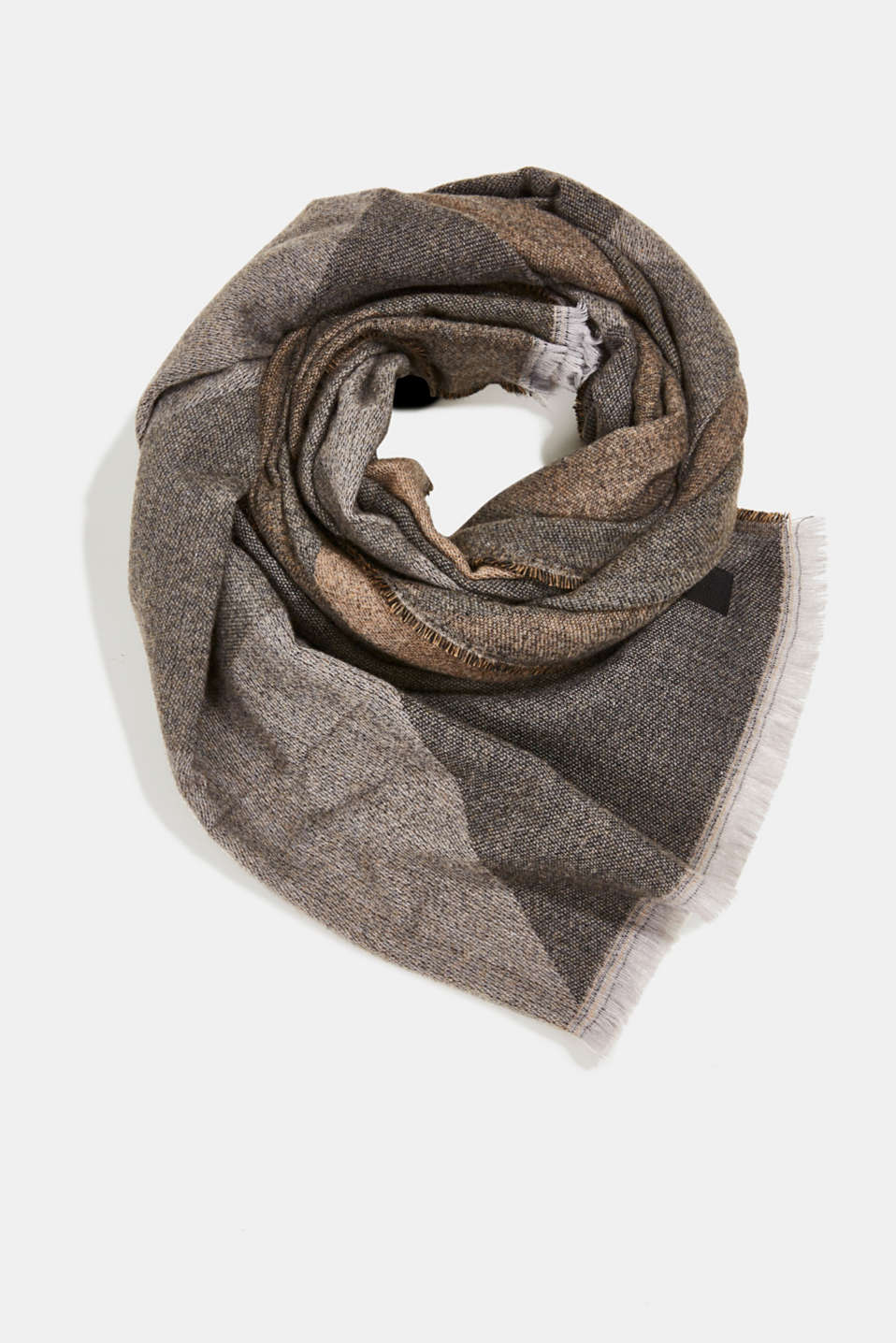 Esprit - Recycled: Scarf with a woven pattern