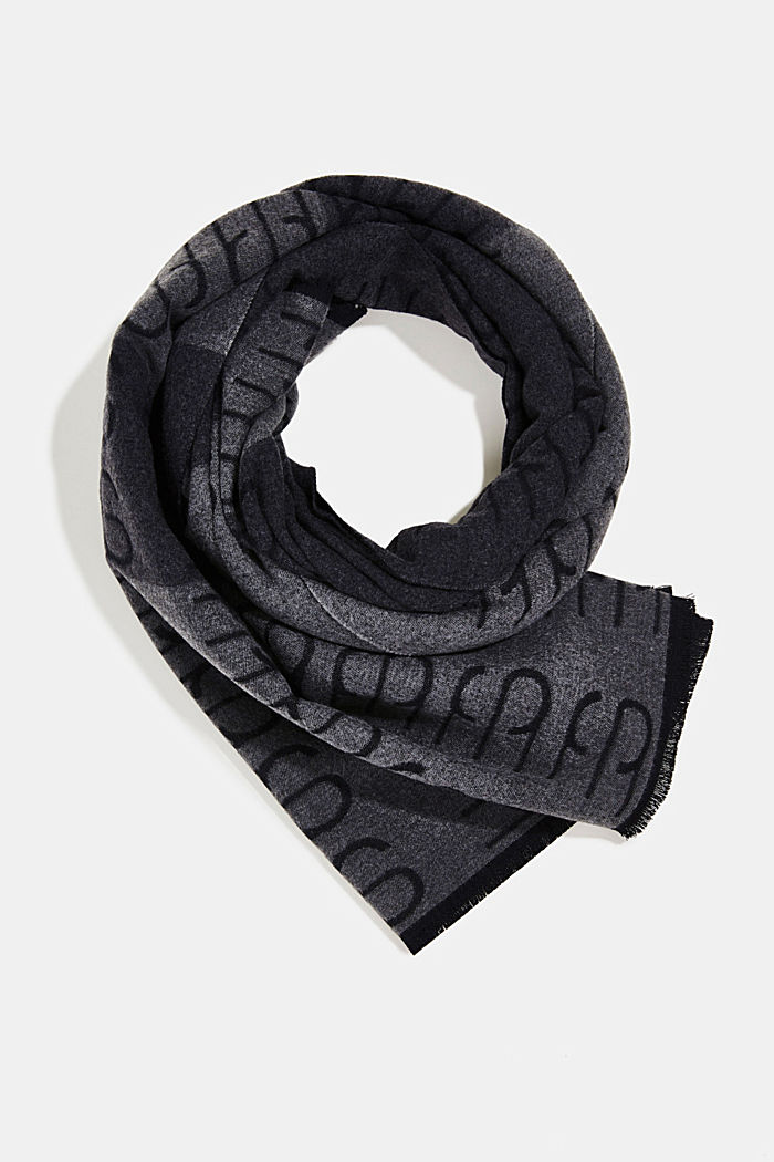 Recycled: double-faced scarf with a monogram