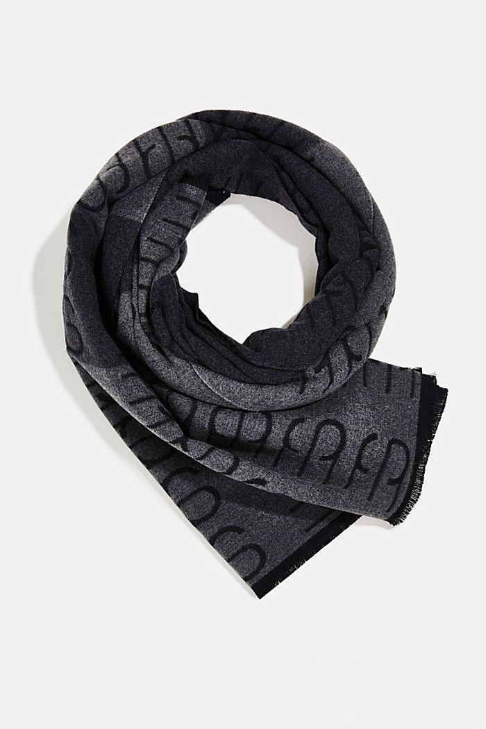 Recycelt: Doubleface-Schal mit Monogramm
