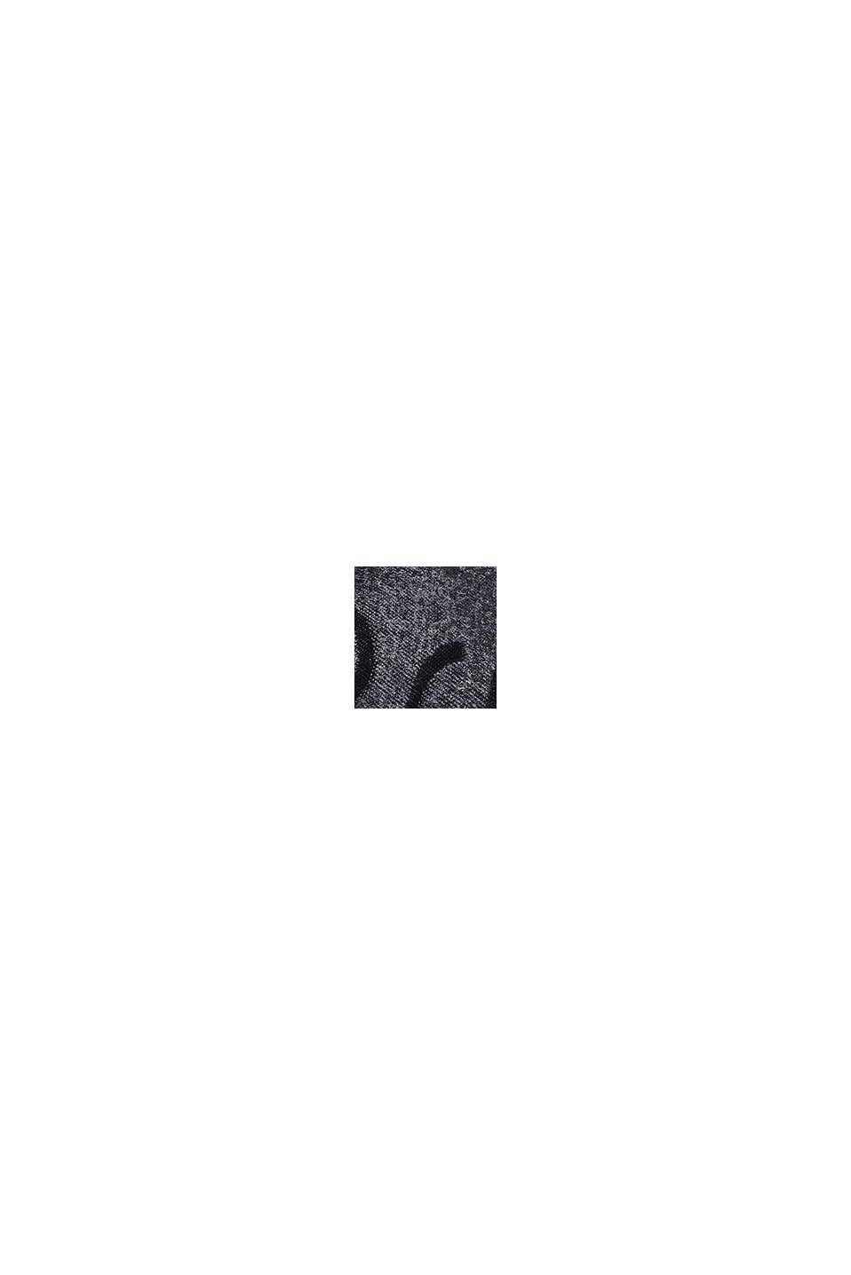 Recycelt: Doubleface-Schal mit Monogramm, DARK GREY, swatch