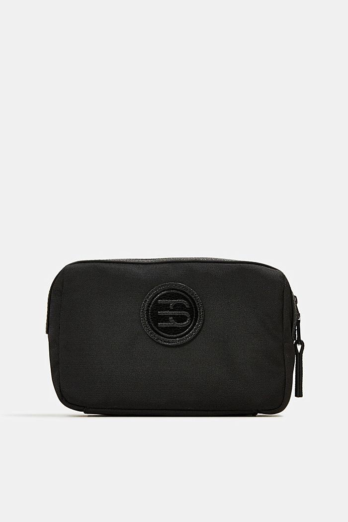 Monogrammed make-up bag, BLACK, detail image number 0