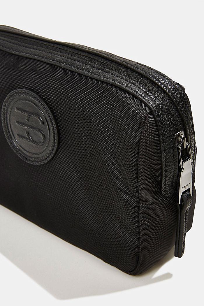 Monogrammed make-up bag, BLACK, detail image number 1