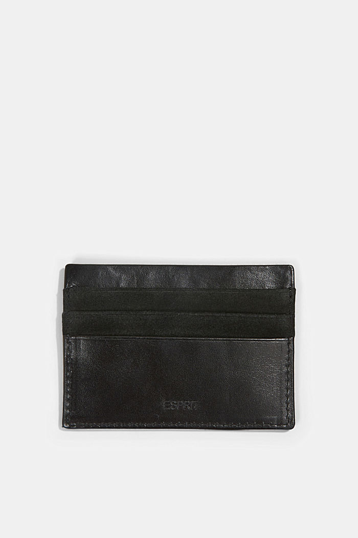 Card holder made of 100% chrome-free tanned leather, BLACK, detail image number 2